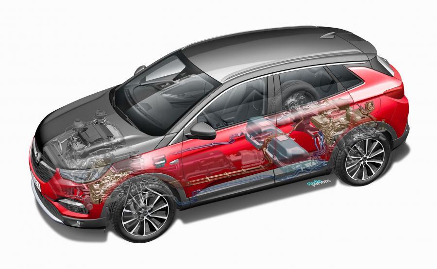 Hybrydowym Oplem można praktycznie przez cały czas jeździć w trybie bezemisyjnym (elektrycznym). Akumulator zainstalowano pod tylnymi siedzeniami, aby nie ograniczał przestronności wnętrza ani pojemności bagażnika