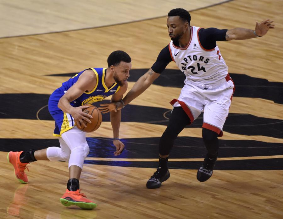 Stephen Curry i Norman Powell