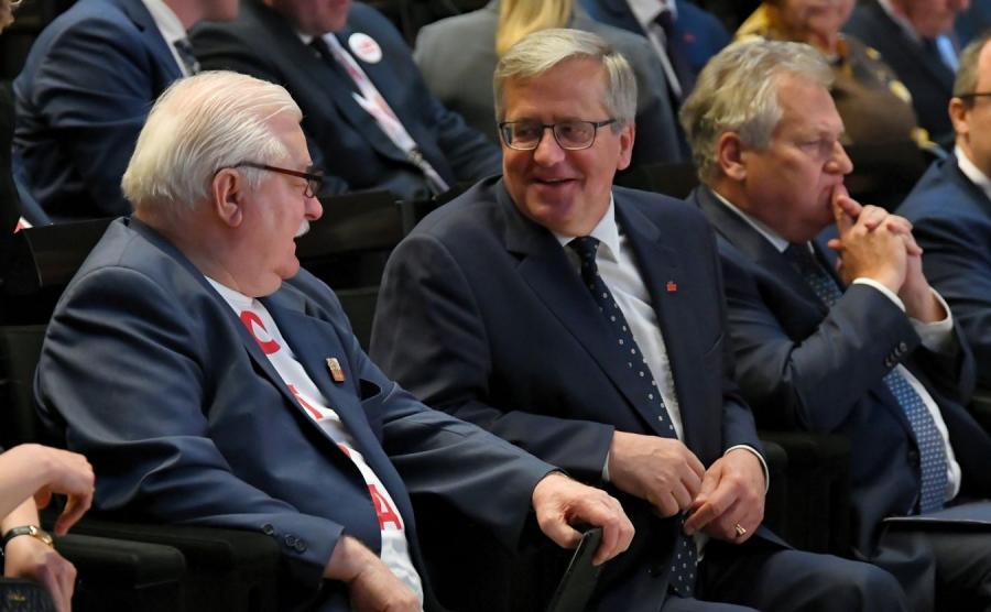 Lech Wałęsa, Bronisław Komorowski i Aleksander Kwaśniewski