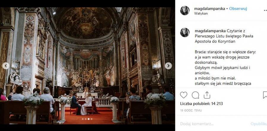 ślub Magdaleny Lamparskiej i Bartosza Osumka / fot. Patryk Bruliński