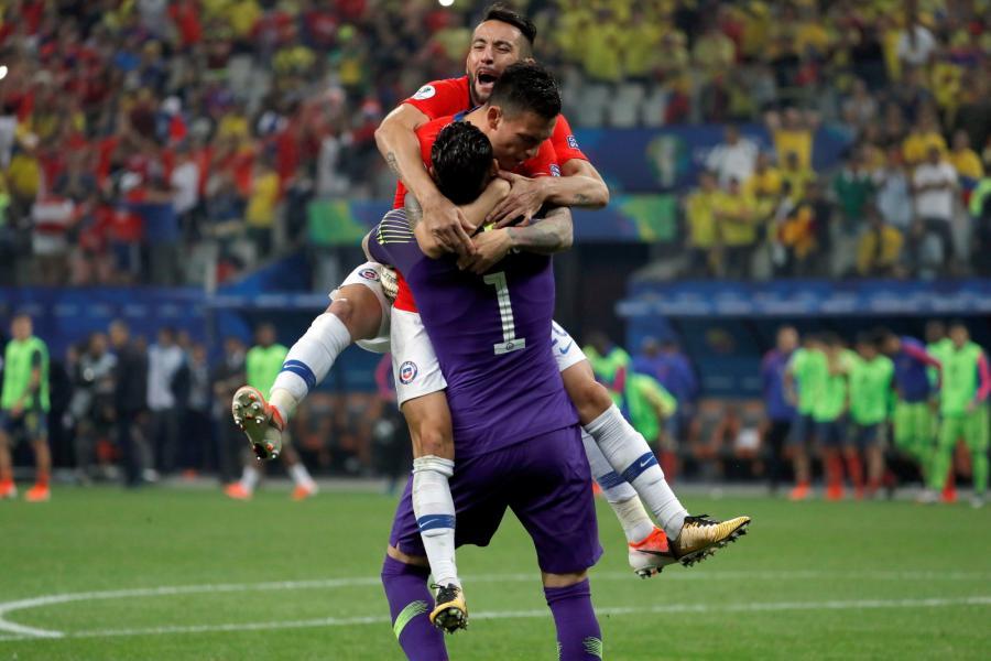 Radość piłkarzy reprezentacji Chile