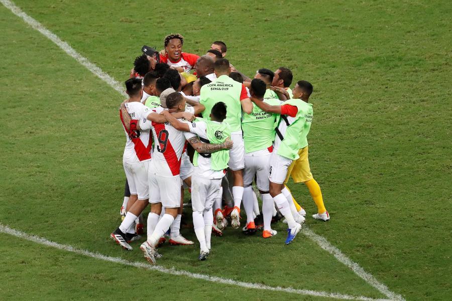 Radość piłkarzy reprezentacji Peru