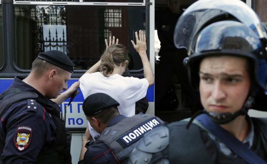 Zatrzymania w Moskwie