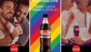 Jeden z plakatów reklamowych Coca-Coli na Węgrzech