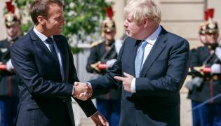 Emmanuel Macron i  Boris Johnson