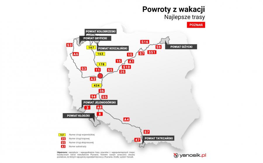 Najlepsze trasy - Poznan