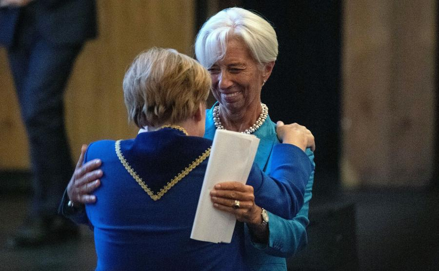 Christine Lagarde i Angela Merkel