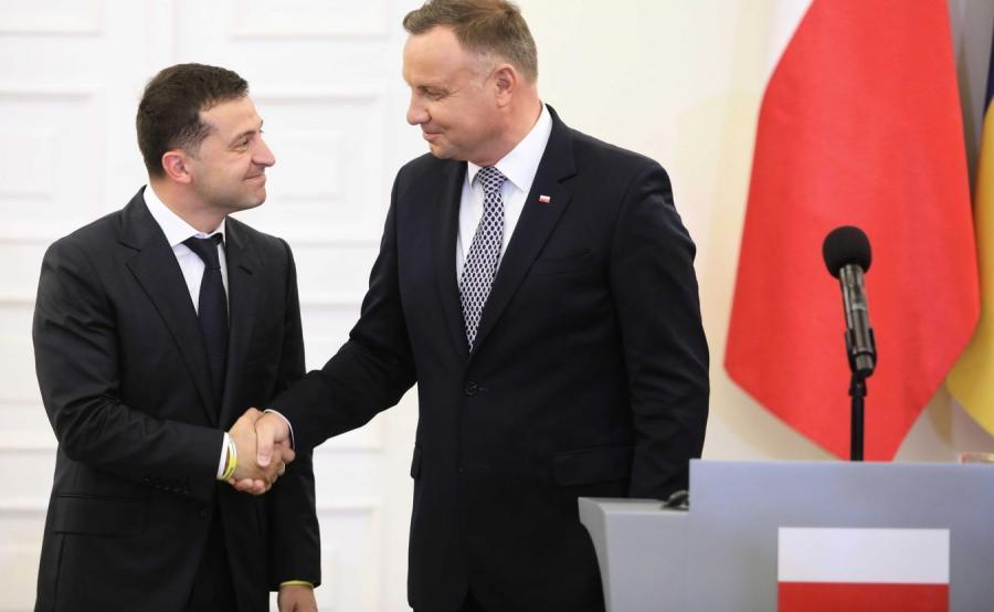 Prezydent Zełenski i Duda