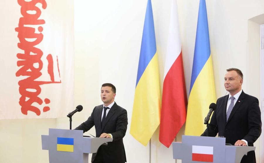 Wołodymyr Zełenski z Andrzejem Dudą