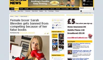 Sarah Blewden nie może trenować boksu przez implanty