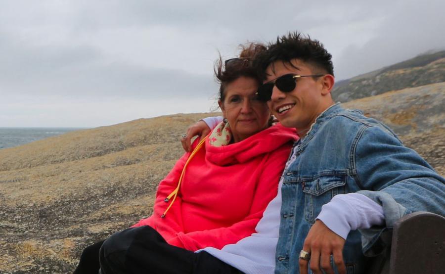 Dawid Kwiatkowski z mamą w programie \