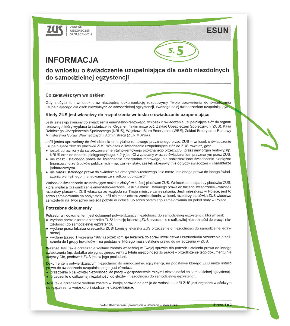 Jak wypełnić wniosek o 500 zł dla niepełnosprawnych s.5
