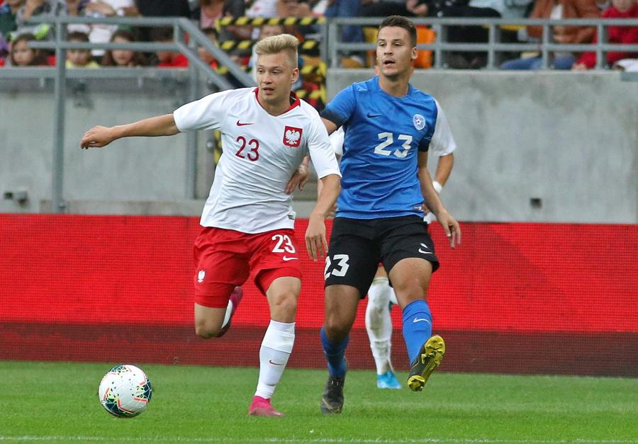 Bartosz Bida (L) i Mairo Miil (P) z Estonii