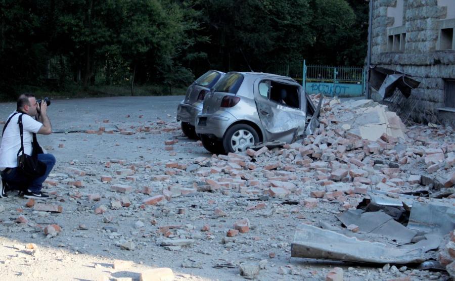 Tirana. Zniszczenia po trzęsieniu ziemi