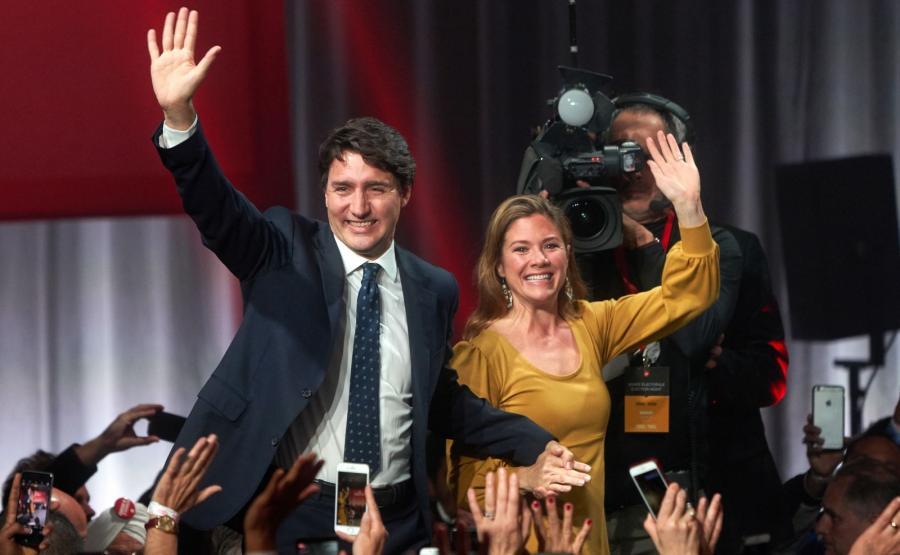 Premier Kanady Justin Trudeau z żoną Sophie Gregoire