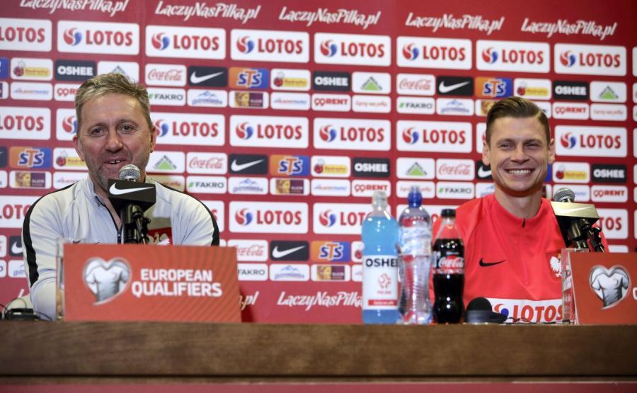 Jerzy Brzęczek i Łukasz Piszczek