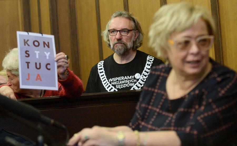 Małgorzata Gersdorf i Mateusz Kijowski na sali rozpraw
