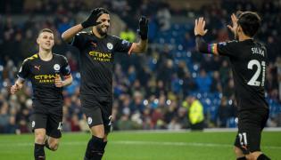 Pikarze Manchesetru City podczas wygranego spotkania z Burnley
