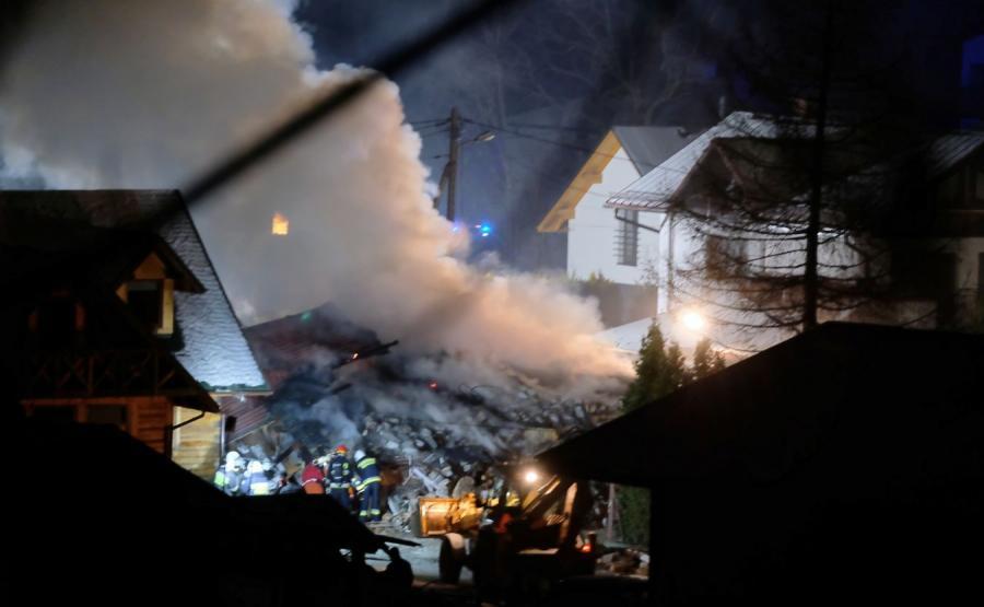 Wybuch gazu w Szczyrku, zawalił się budynek