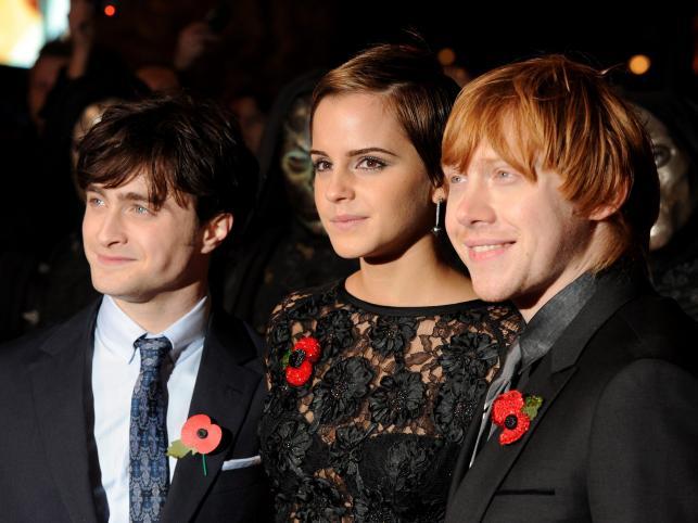 Aktorzy Daniel Radcliffe, Emma Watson i Rupert Grint