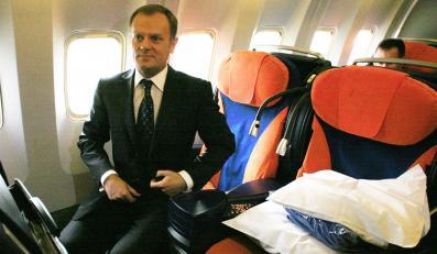 Alarm bombowy w samolocie Tuska