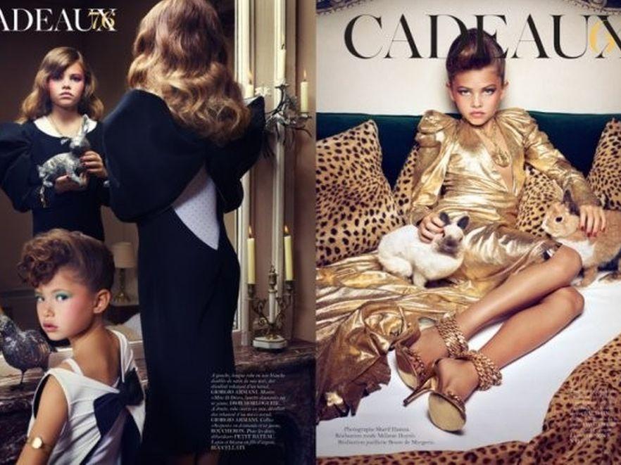 Autorom sesji zarzucono promowanie seksualnego wizerunku dzieci. Źródło: Vogue Paris