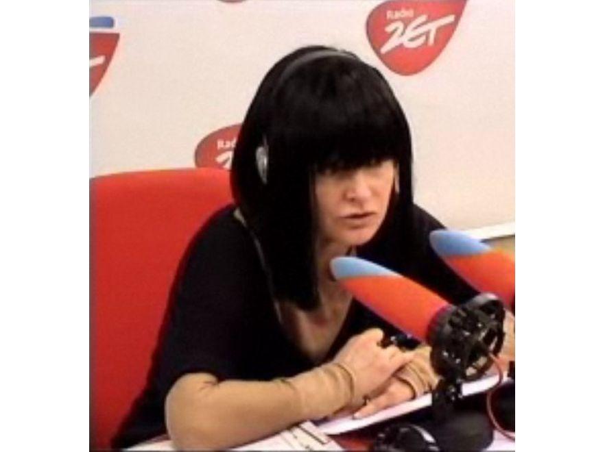 Czarnowłosa Monika Olejnik w Radiu ZET