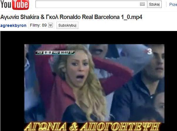 Shakira przeżywała mecz Barcelony z Realem