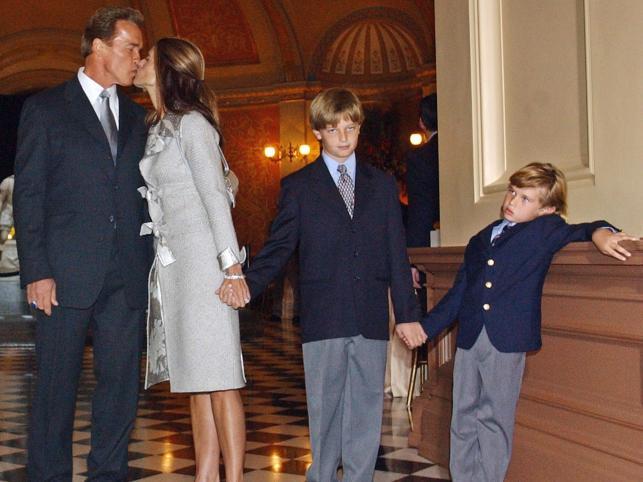 Maria i Arnold z synami Patrickiem i Christopherem