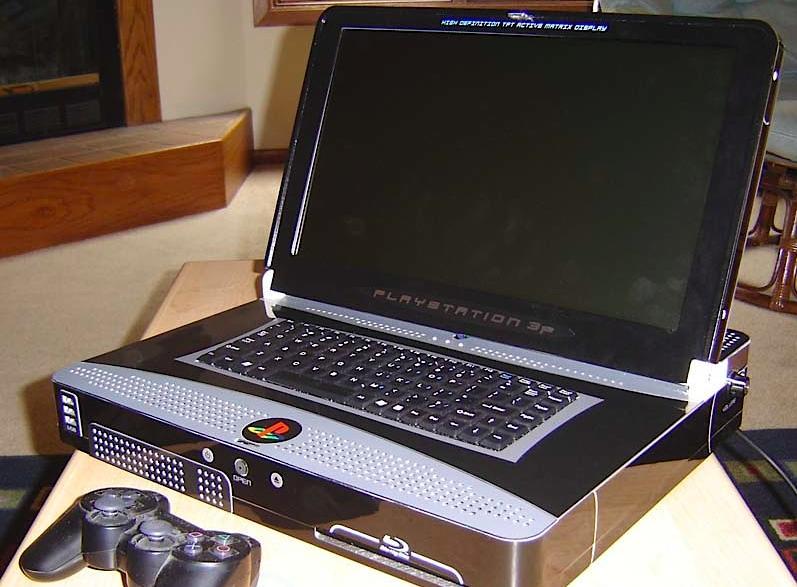 Jedyny istniejący na świecie laptop Playstation3