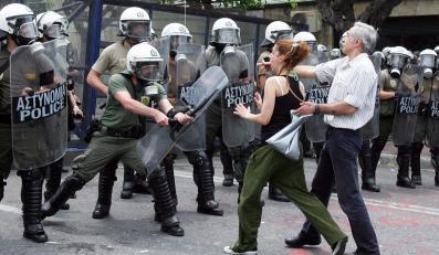 Demonstracje w Grecji
