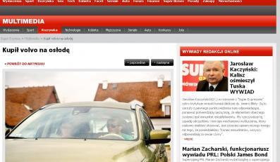 Jarosław Kuźniar w nowym Volvo XC60