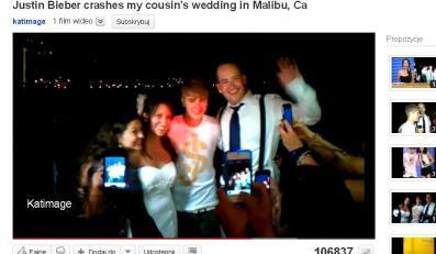 Justin Bieber na przypadkowym weselu