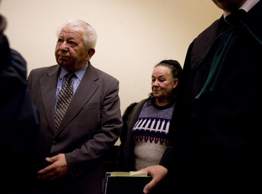 Antoni Gucwiński z żoną przed sądem