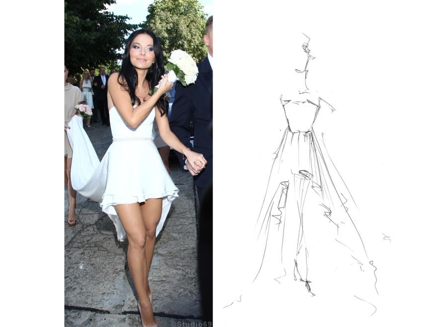 Projektanci sukni ślubnej Pauliny Sykut są dumni ze swogo dzieła.
