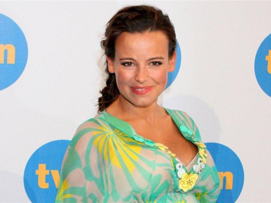 Anna Mucha w ciąży wygląda kwitnąco.