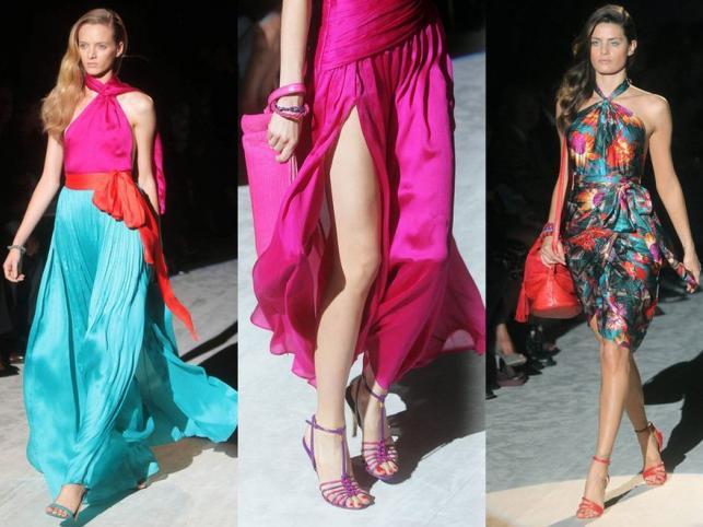 Kobiecość to kolor: Ferragamo na wiosnę i lato 2012