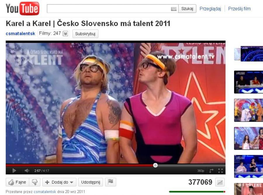 Karel i Karel w czeskiej wersji \