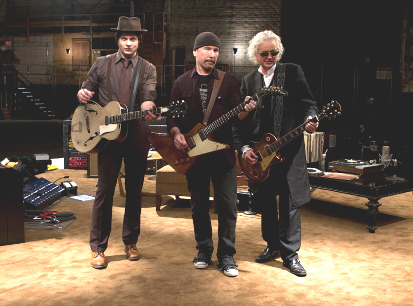 Jack White, The Edge, Jimmy Page w \