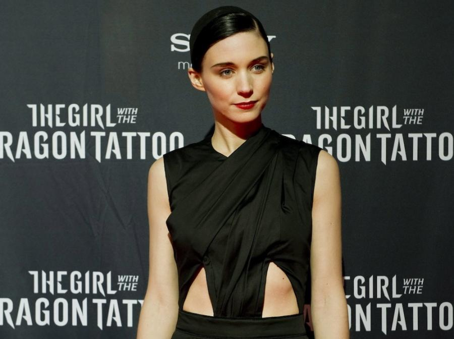 Rooney Mara na premierze w Sztokholmie