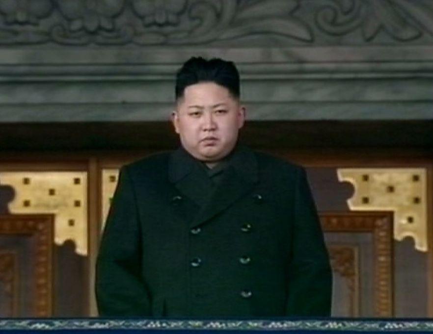Kim Dzong Un w czasie uroczystości żałobnych na cześć jego ojca.