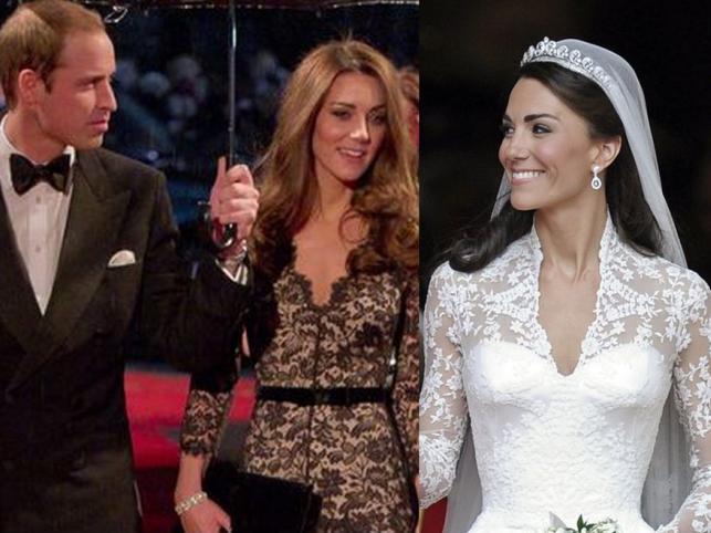 Opięcia, prześwity, koronki, dekolty. Ulubiony styl Kate Middleton?