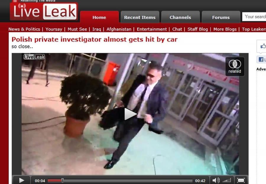 Zabiegany Rutkowski omal nie wpadł pod pędzący samochód!