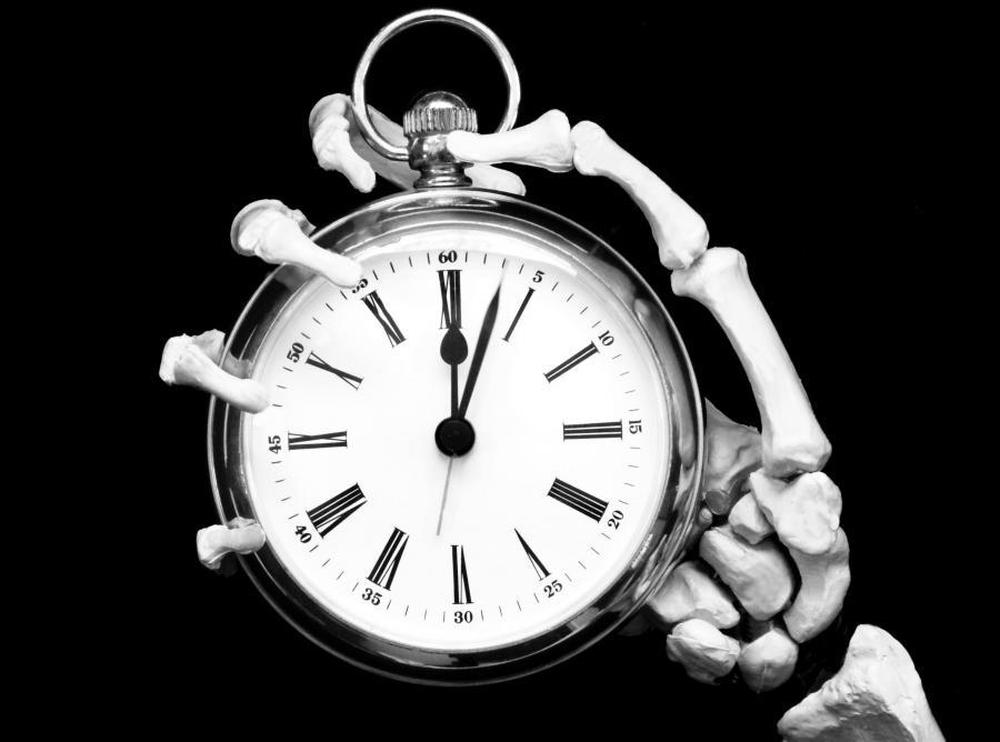śmierć stoper czas zegarek umieranie