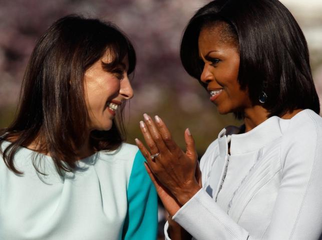 Michelle Obama i Samantha Cameron