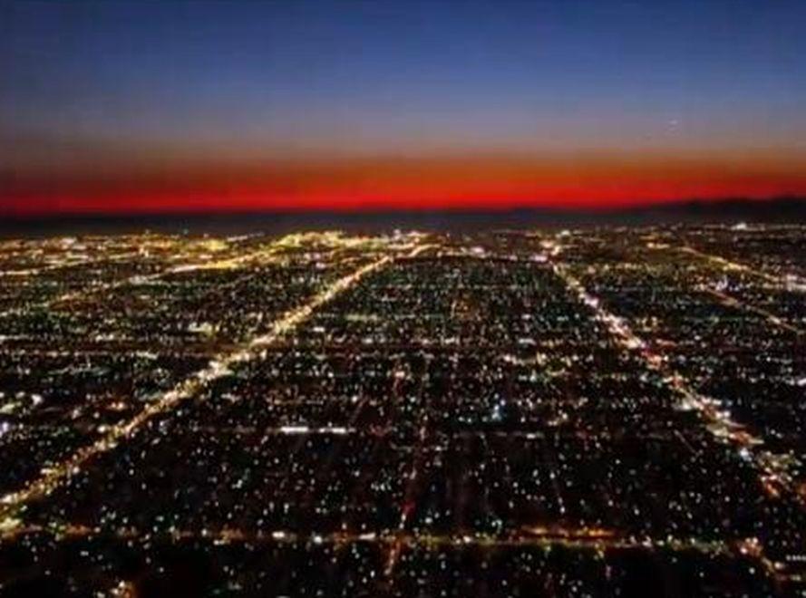 Los Angeles z lotu ptaka
