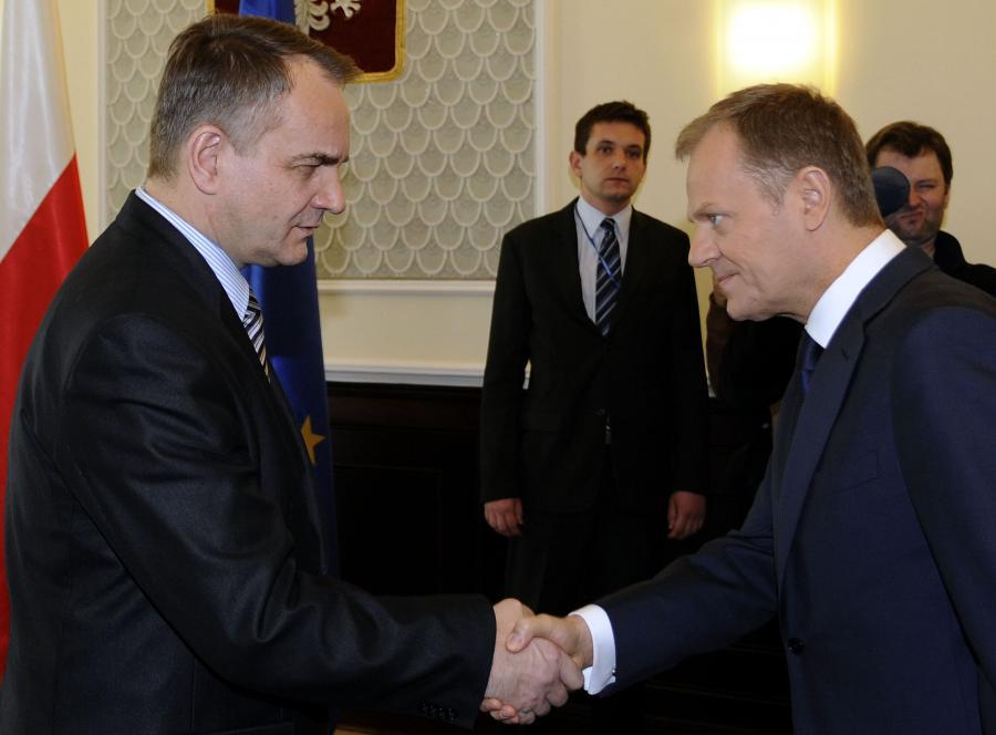Waldemar Pawlak i Donald Tusk