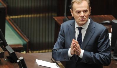 Premier Donald Tusk w Sejmie