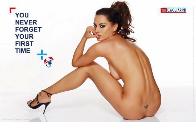 Catrinel Menghia w reklamie Abartha