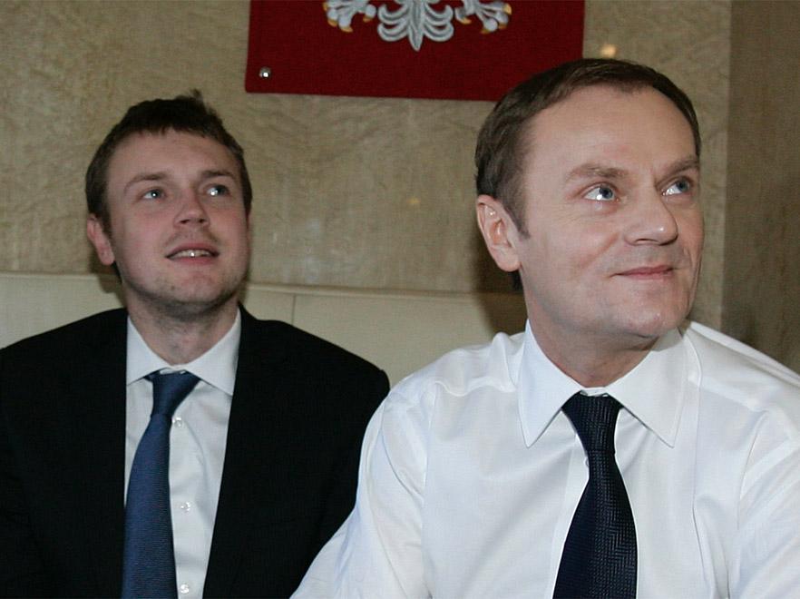 Michał Tusk z ojcem Donaldem Tuskiem